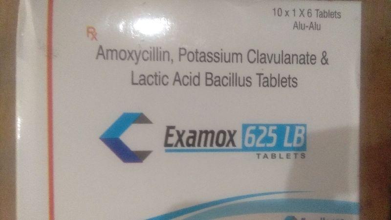 Amoxicillin, Potassium Clavulanate & Lactic Acid Bacillus Tablets