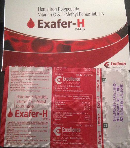 Heme Iron Polypeptide, Vitamin C & L-Methyl Folate Tablets