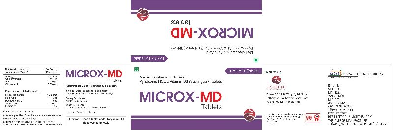 Methylcobalamin, Folic Acid, Pyridoxine HCL & Vitamin D3 (Sublingual) Tablets
