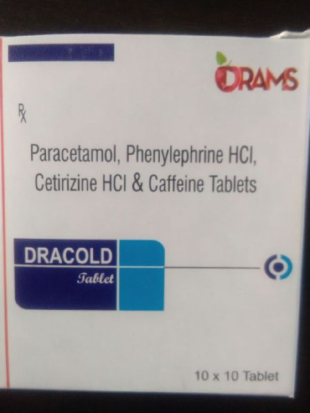 Paracetamol, Phenylephrine HCL, Cetirizine HCL & Caffeine Tablets