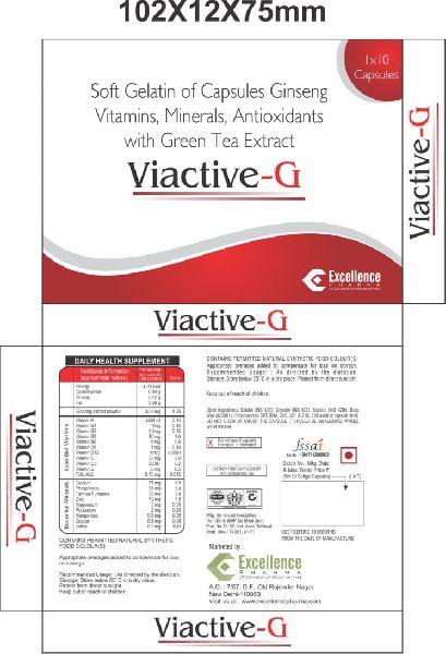 Soft Gelatin of Capsules Ginseng Vitamins, Minerals, Antioxidants Green Tea Extract Softgel Capsules