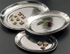 Stainless Steel Oval Serving Tray