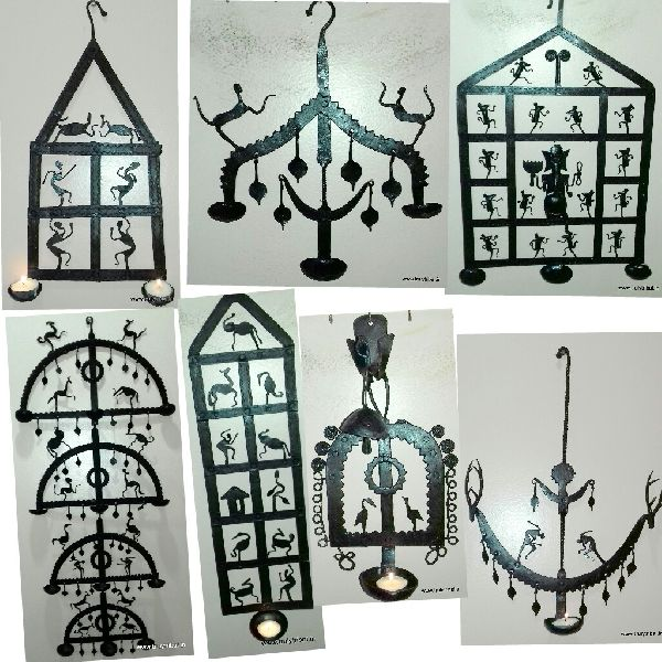 Wrought Iron Laman Diya Holders