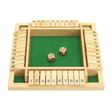 Shut The Box Wooden Board Game