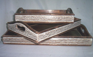 Designer Wooden Tray 04
