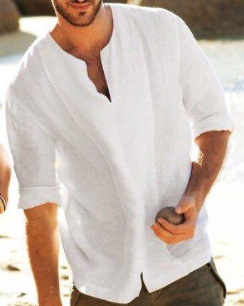Mens Party Wear Linen Shirts