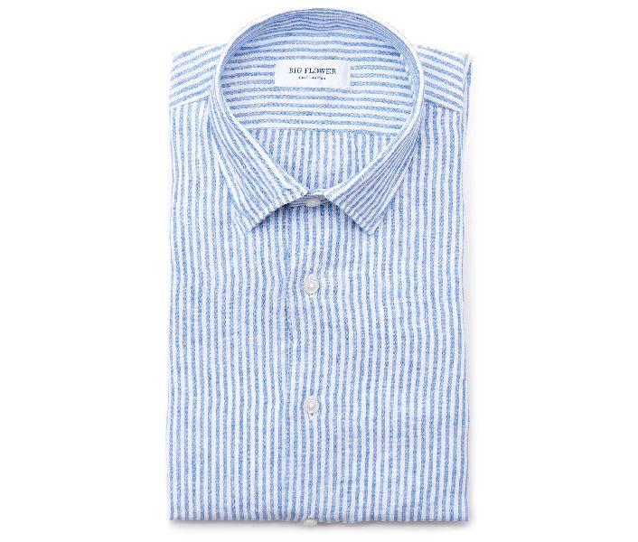 Mens Striped Linen Shirts