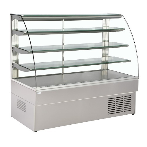 Curved Glass Display Counter  03