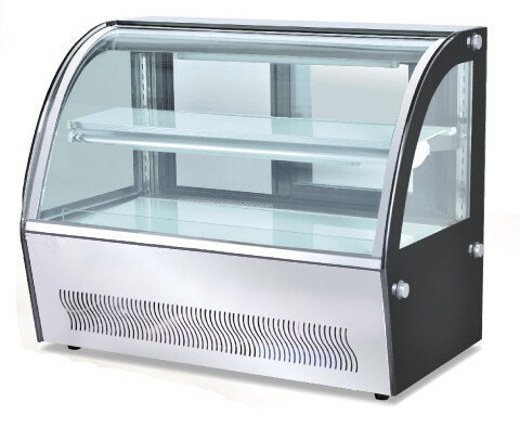 Curved Glass Display Counter  04