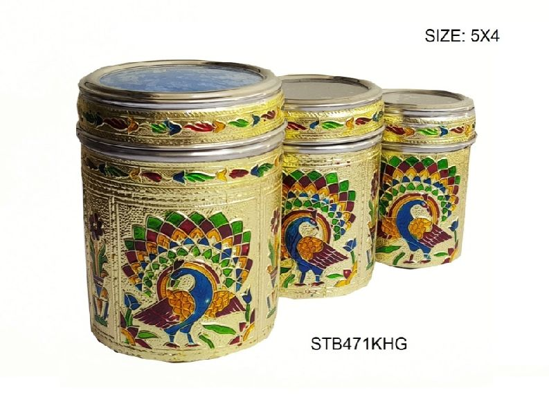 Decorative Steel Tea Box