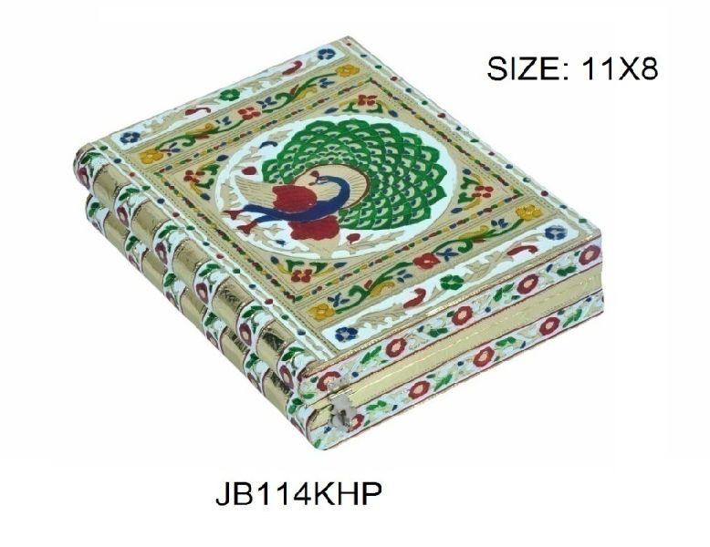 Silver Meenakari Jewellery Box