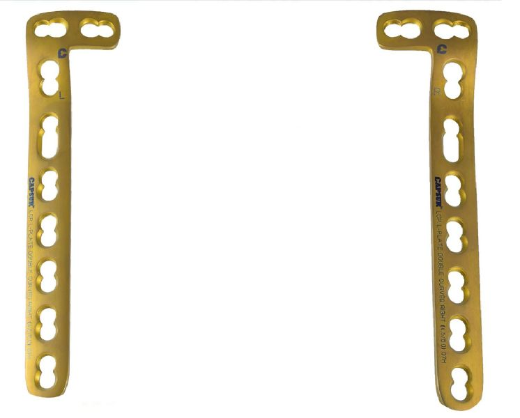 Locking L Plate Double Curved