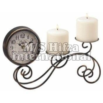 Table Clock & Candle Holder