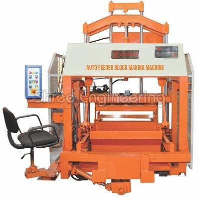 860mm Five Vibrator Auto Feeder Double Stroke Concrete Block Making Machine Without Hopper