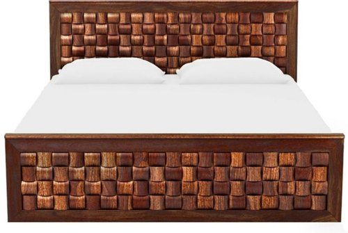 Melamine Polish Wooden Bed