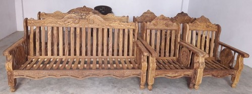 Natural Wooden Sofa Set