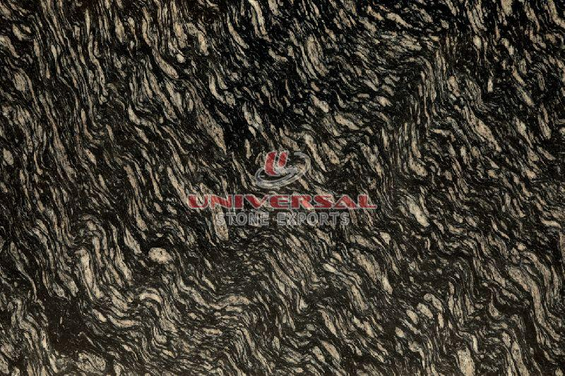 Black Zebra Granite Slab
