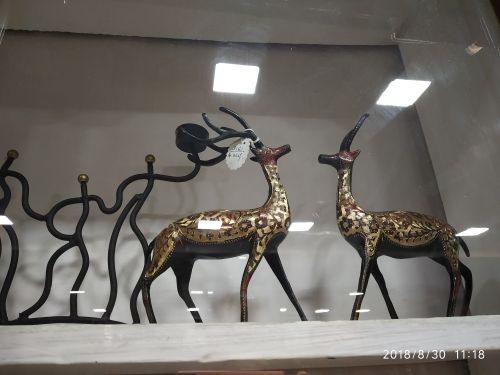 Brass Deer Statue 02