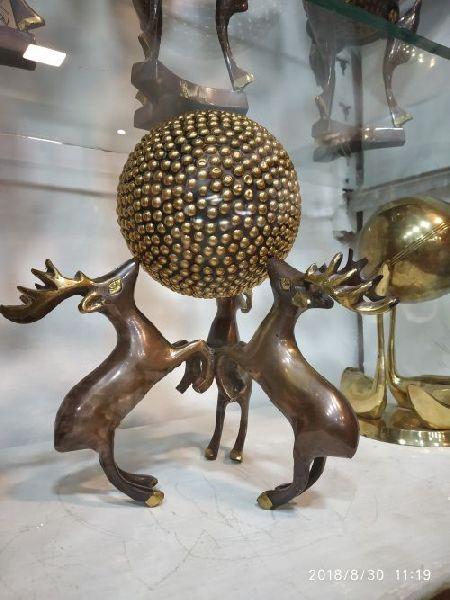 Brass Deer Statue 05