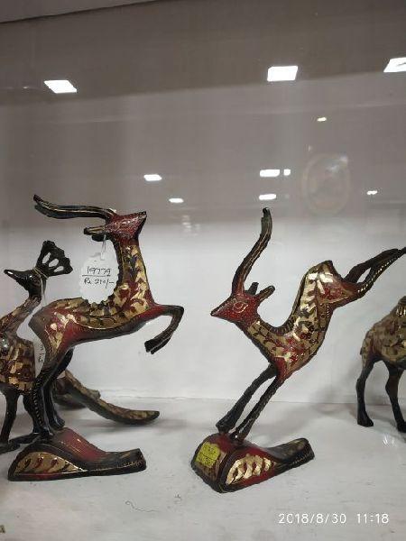Brass Deer Statue 01