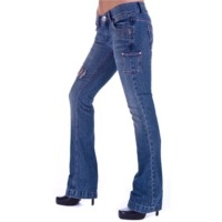 Grunge Style Bootcut Ladies Designer Jeans