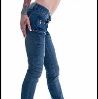 Grunge Style Straight Leg Ladies Designer Jeans