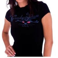 Ladies Spandex Black T-Shirts