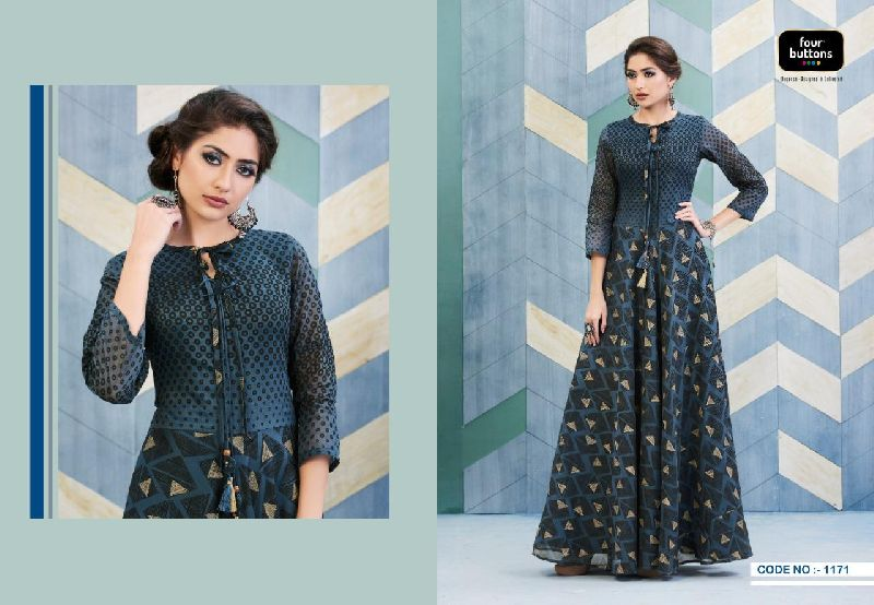D No. 1171 Chanderi Gown