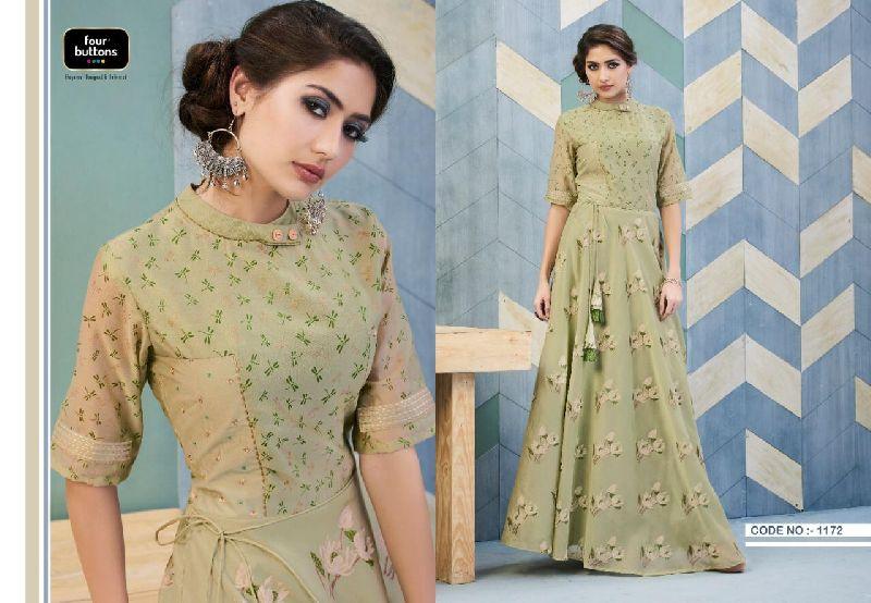D No. 1172 Chanderi Gown