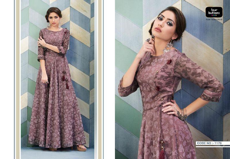 D No. 1176 Chanderi Gown