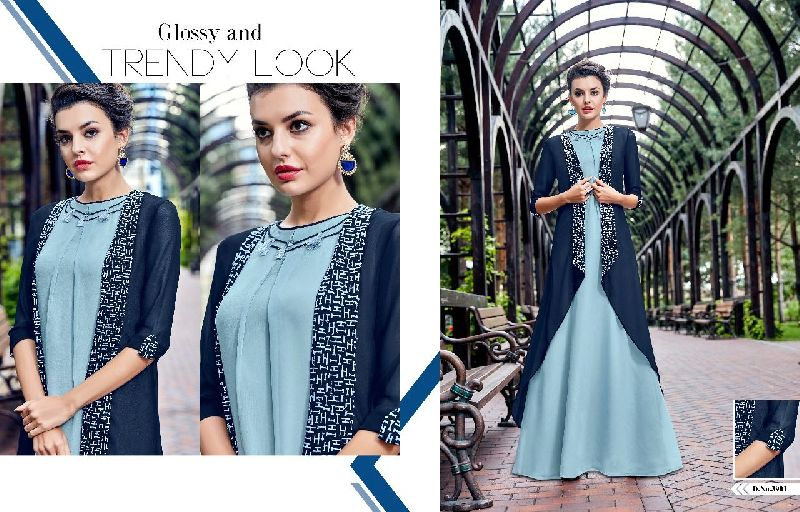 D No. 3901 Georgette Gown
