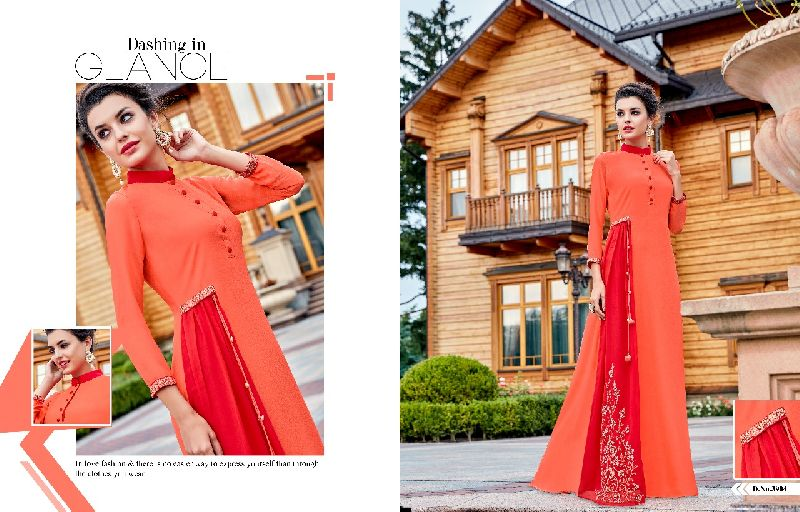 D No. 3904 Georgette Gown