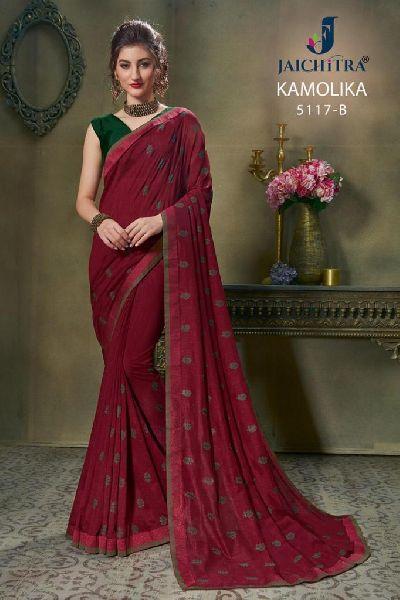 D No. 5117-B Vichitra Silk Saree