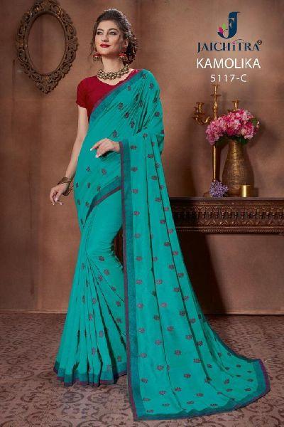 D No. 5117-C Vichitra Silk Saree