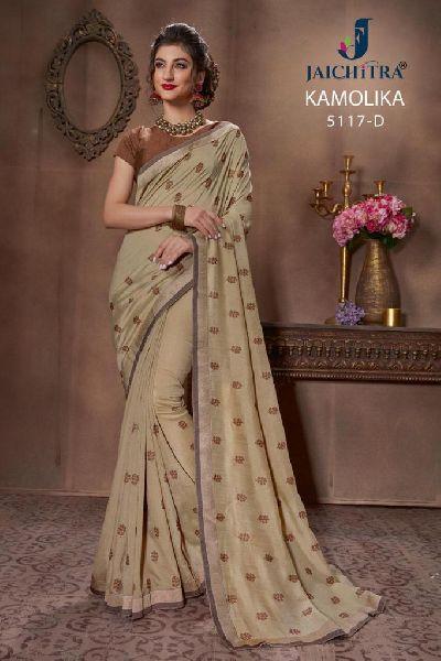 D No. 5117-D Vichitra Silk Saree