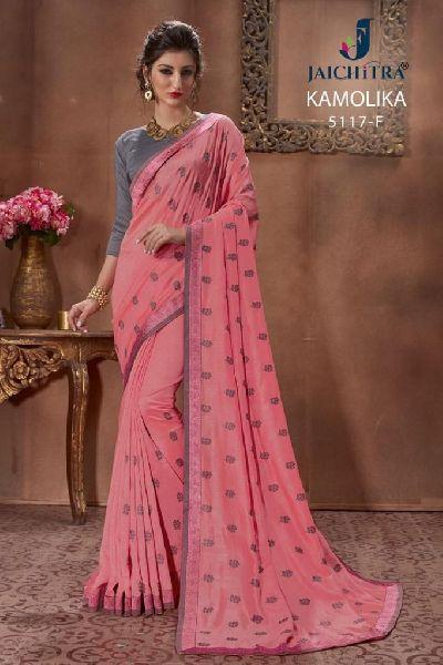 D No. 5117-F Vichitra Silk Saree