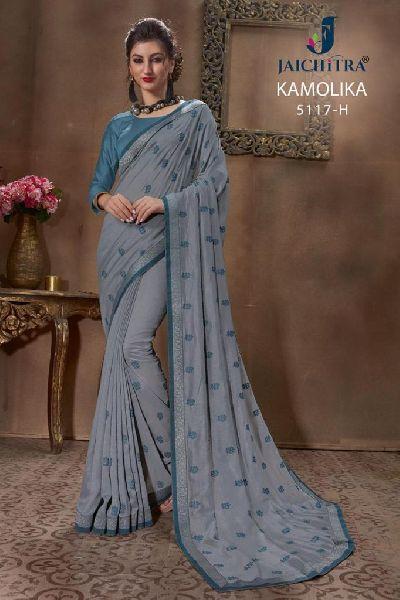 D No. 5117-H Vichitra Silk Saree