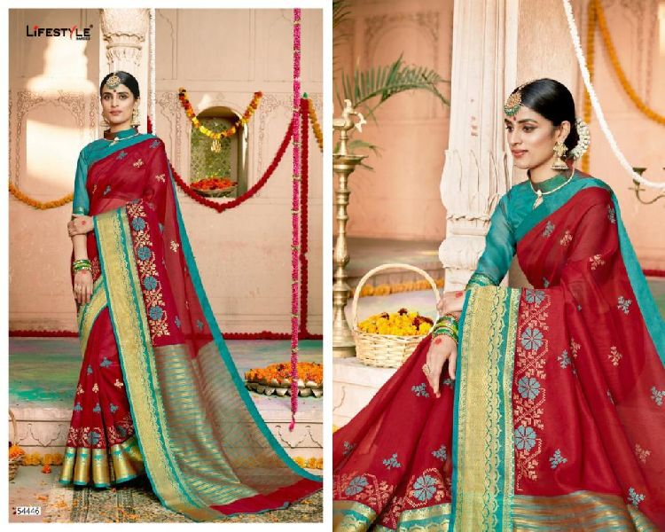 D No. 54446 Silk Saree
