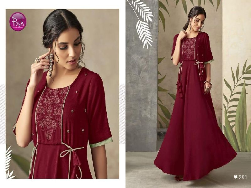D No. 901 Rayon Gown