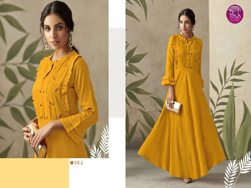 D No. 902 Rayon Gown