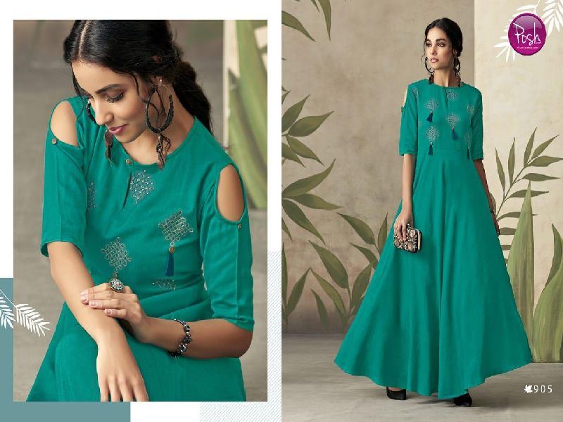 D No. 905 Rayon Gown