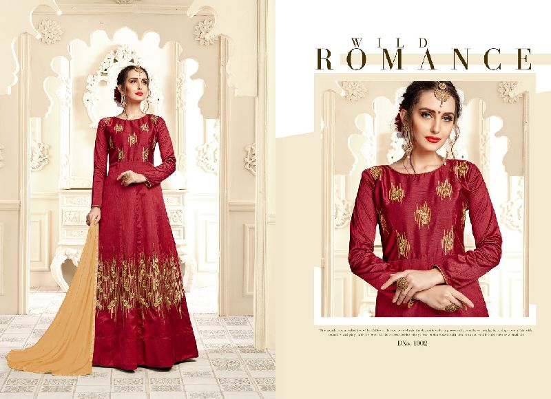 D No. 1002 Banarasi Silk Gown