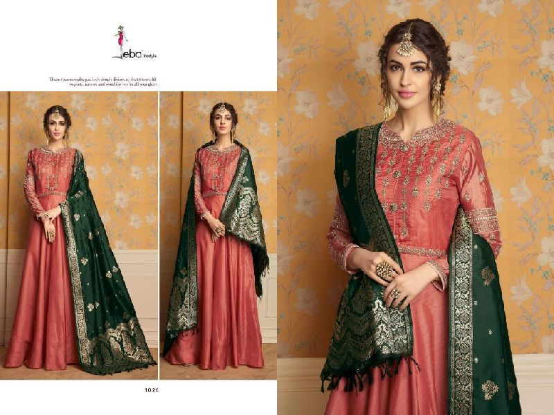 D No. 1024 Tussar Satin Gown