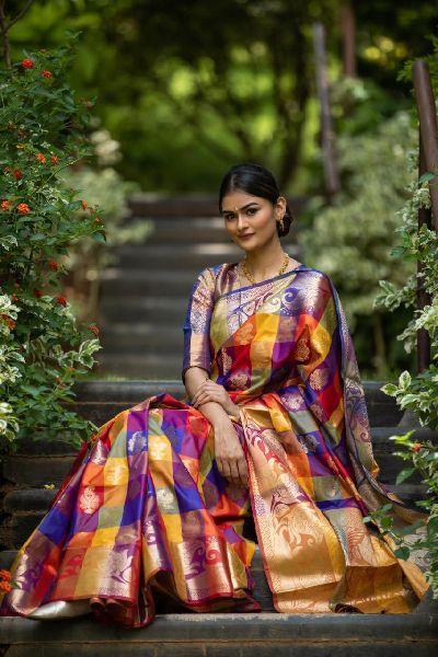 Bright Color Kanchipuram Silk Sarees