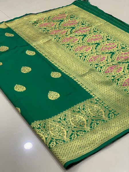 Green Traditional Banarasi Silk Sarees