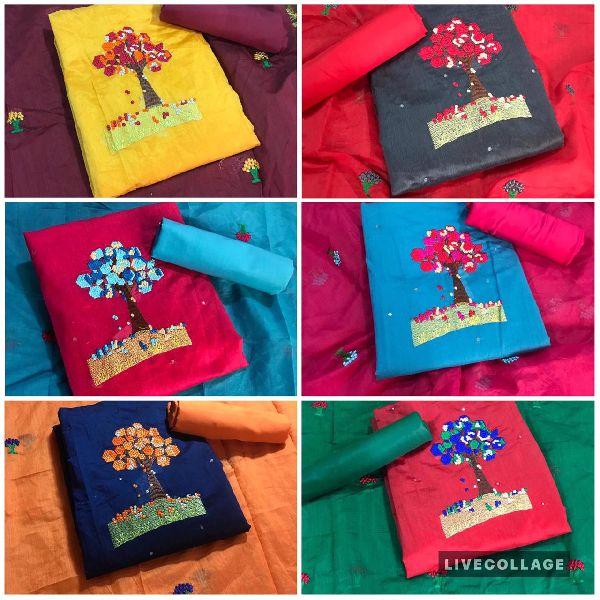 High Quality Top Modar Silk with Santoon Inner Dress Material