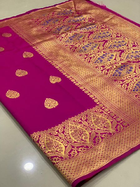 Purple Traditional Banarasi Silk Sarees
