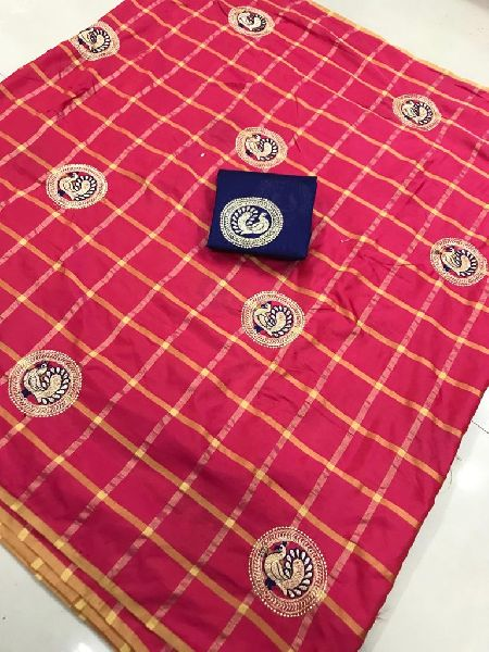 Red Panetar Sana Silk Embroidered Sarees
