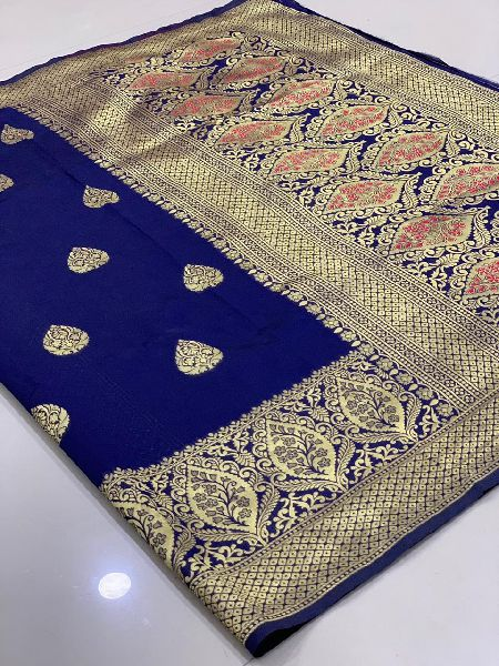 Royal Blue Traditional Banarasi Silk Sarees