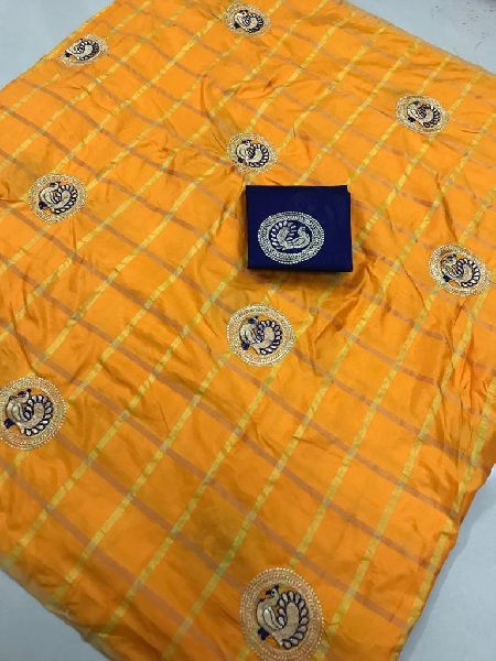 Yellow Panetar Sana Silk Embroidered Sarees